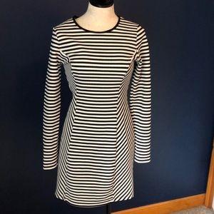 Modcloth NWOT black/white striped dress